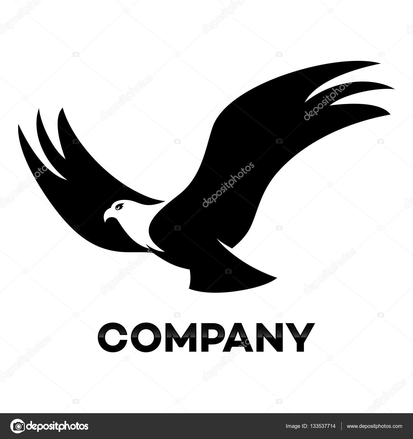 flying eagle logo vector illustration stock vector valentin1982