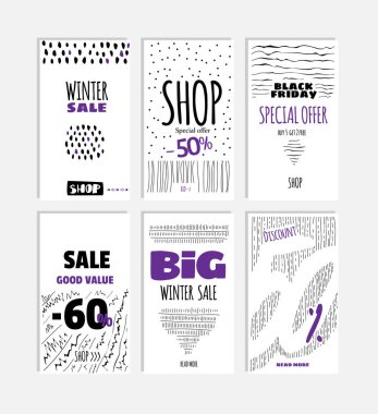 Set cards of mobile advertising.