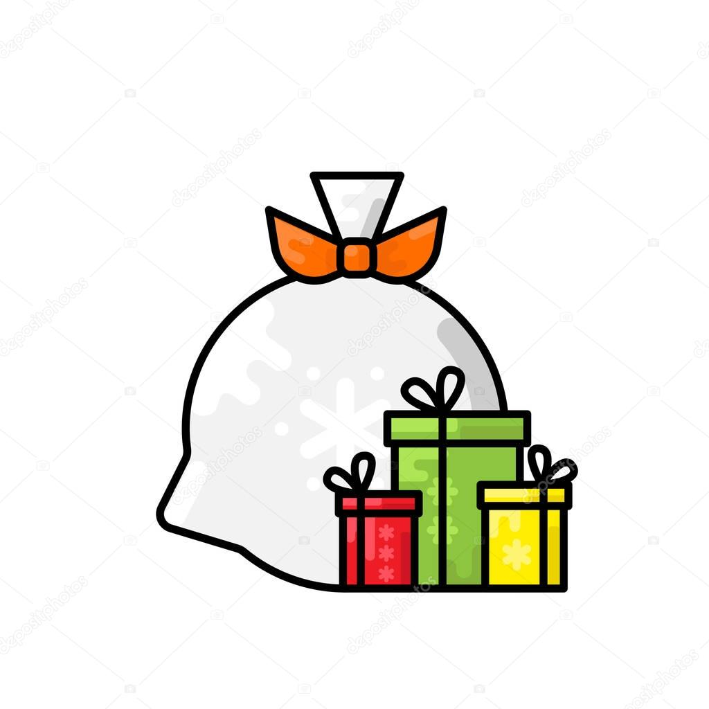 element of a large bag of gifts