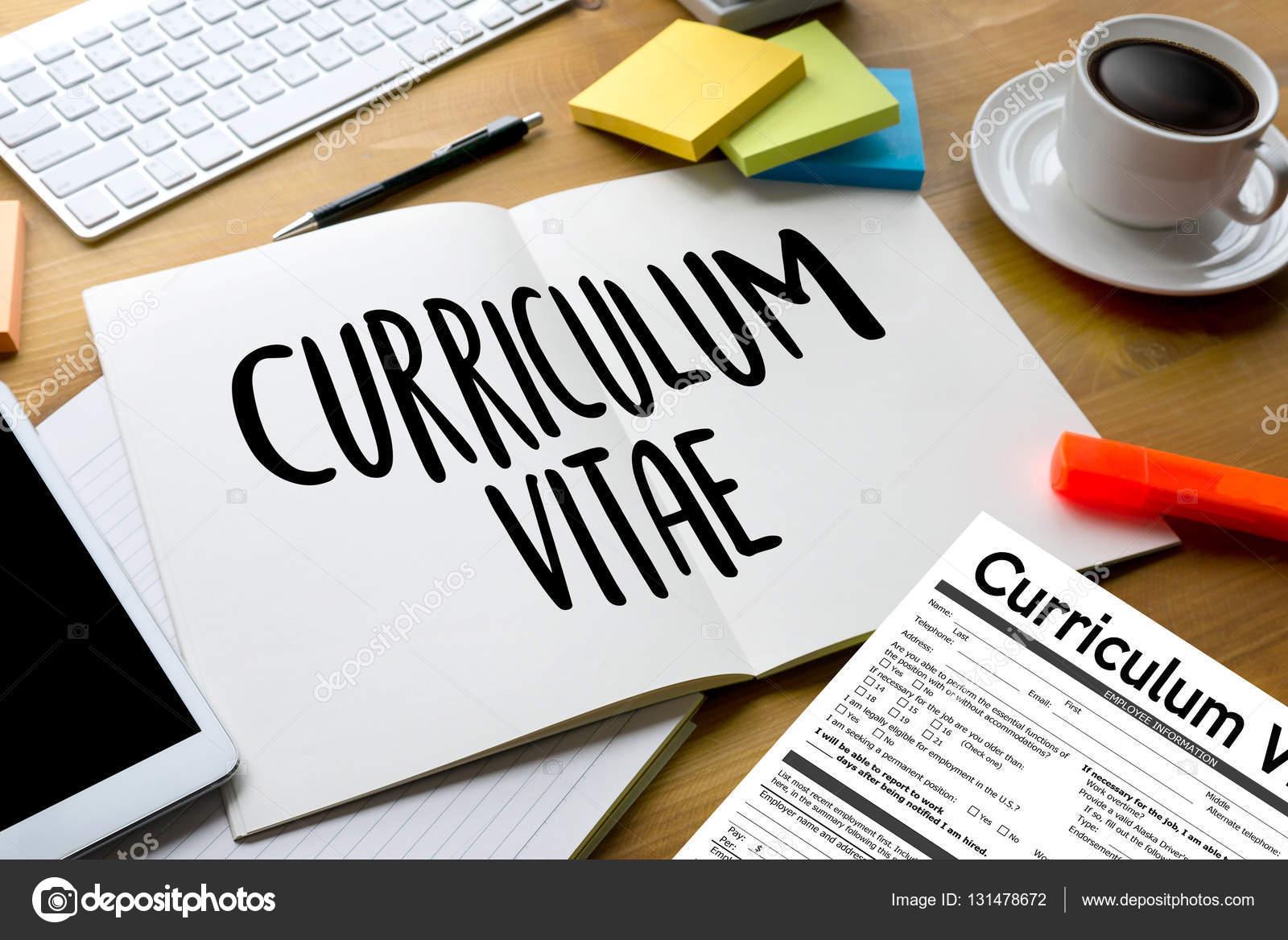 CV - Curriculum Vitae (concepto de entrevista de trabajo con negocio ...
