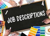 Fotografie JOB DESCRIPTIONS  Human resources, employment, team management J