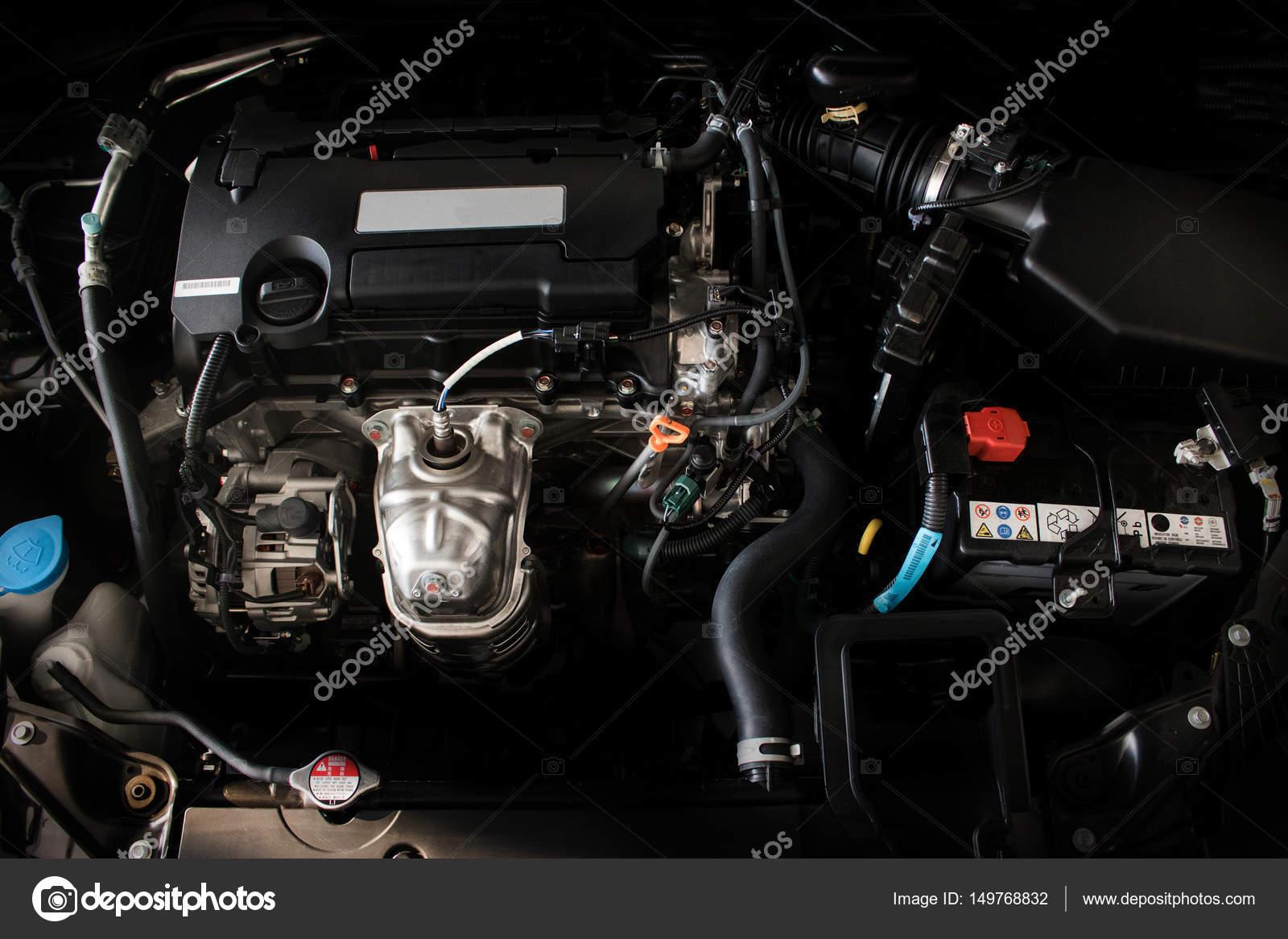 Nahaufnahme Detail des neuen Automotor des kraftvolle Motors eines ...