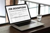 Fotografie JOB DESCRIPTIONS Human resources, employment, team management