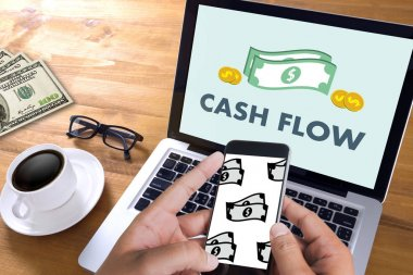 CASH FLOW money Investment and graph chart Investing Banking