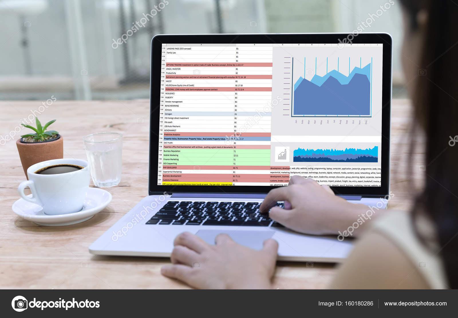 Business Information Technology People Work Hard Data Analytics Statistics Photo By Duiwoy
