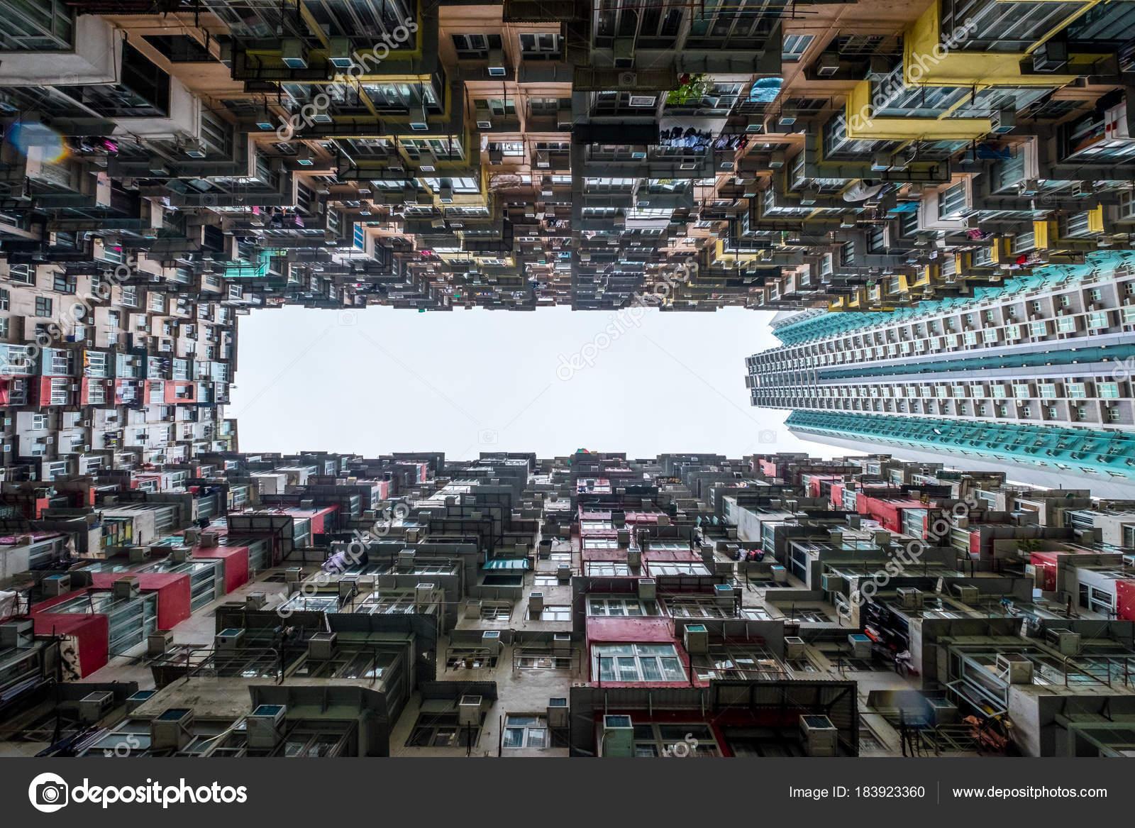 Hong Kong Global City Altbauwohnung in Hong Kong — Stockfoto ...