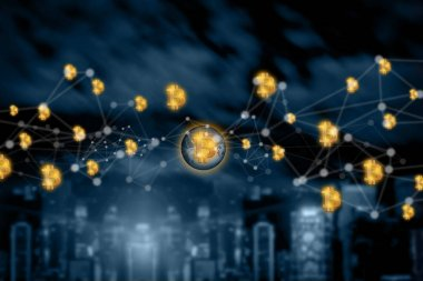 bitcoin  electronic computer concept design Blockchain   cryptoc