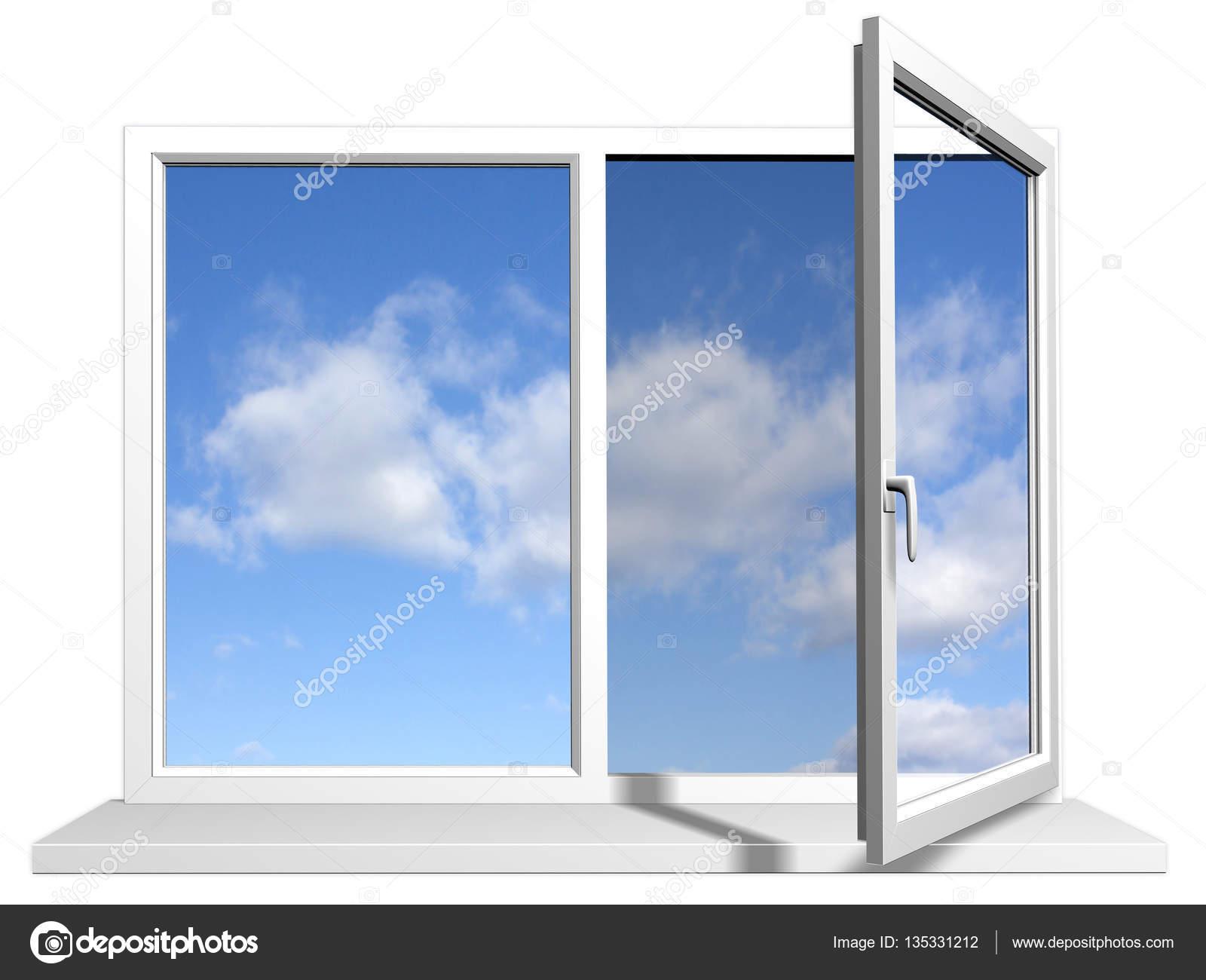 Offenes fenster himmel  Fenster Abbildung — Stockfoto #135331212