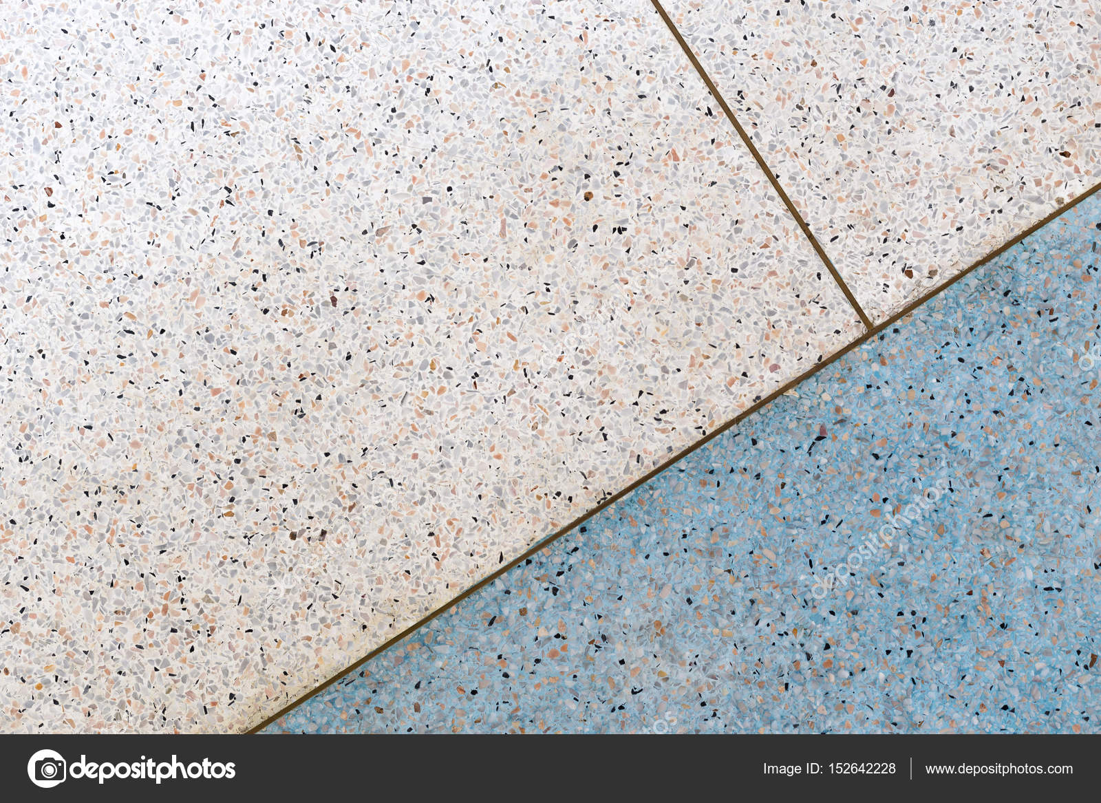 Terrazzo Flooring Background Stock Photo