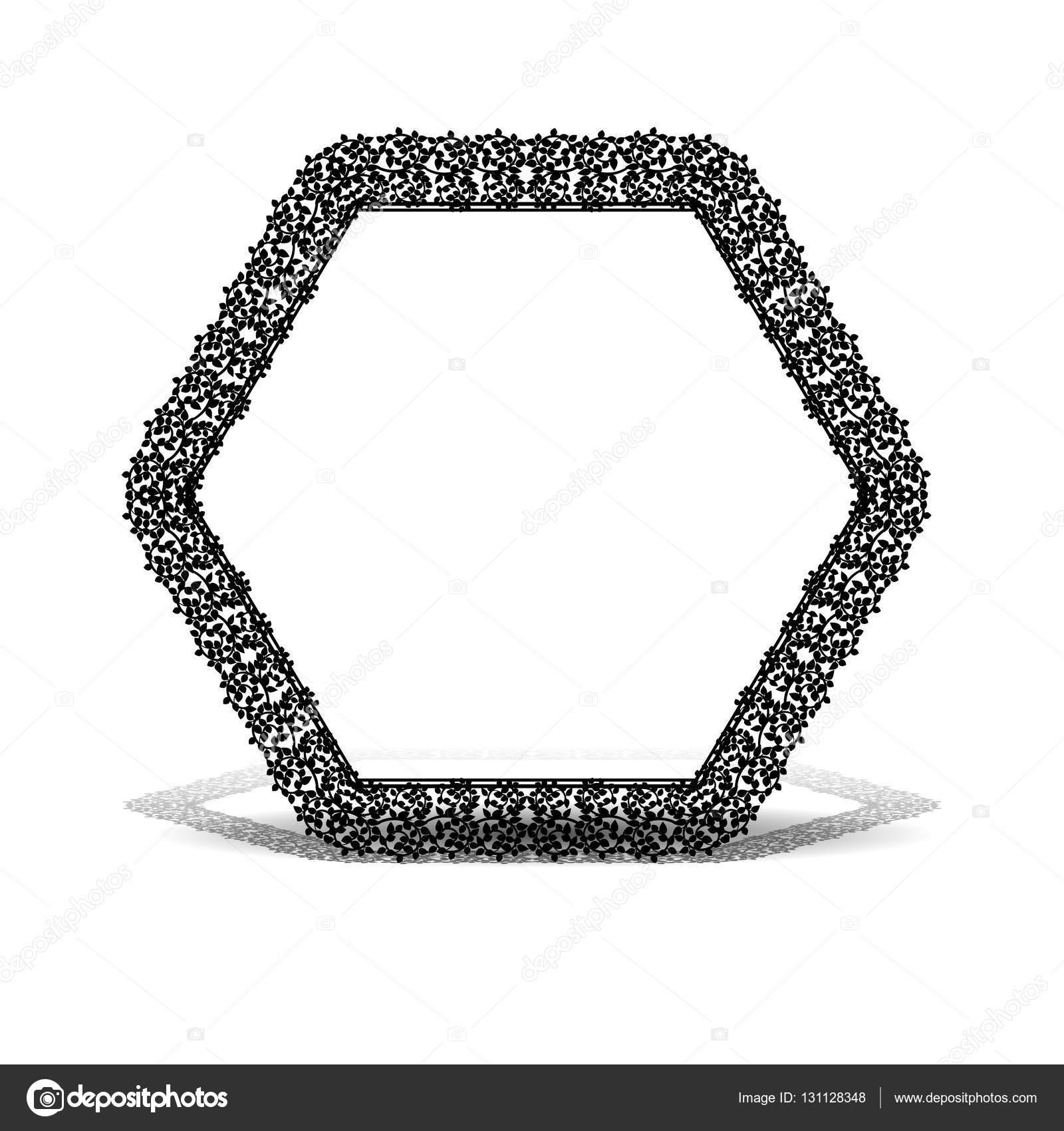 silueta tallada marco para cuadro o foto con sombra — Vector de ...
