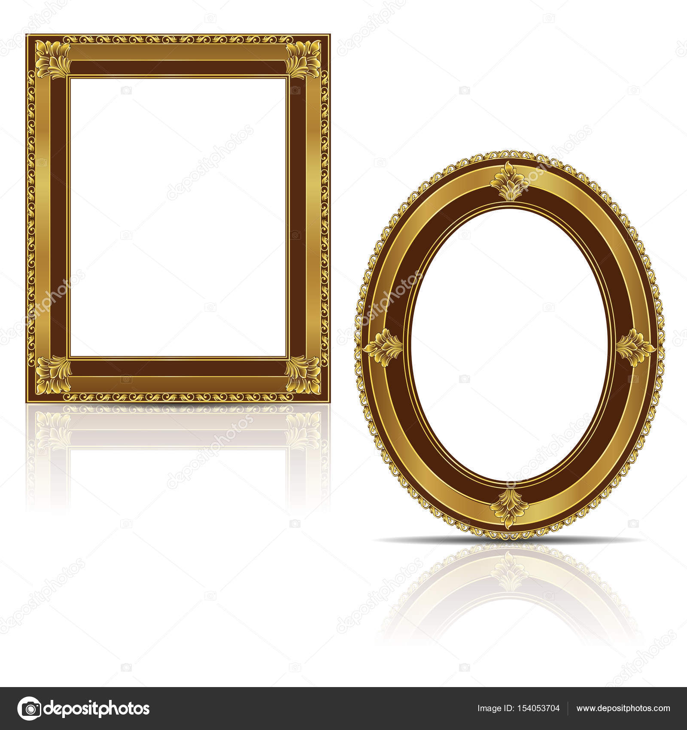 frames gold color with shadow — Stock Vector © M.Svetlana #154053704