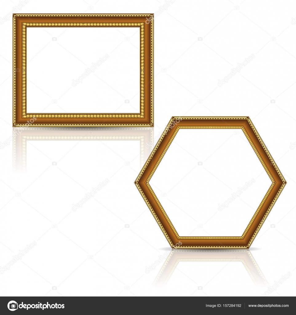 frames gold color with shadow — Stock Vector © M.Svetlana #157284192