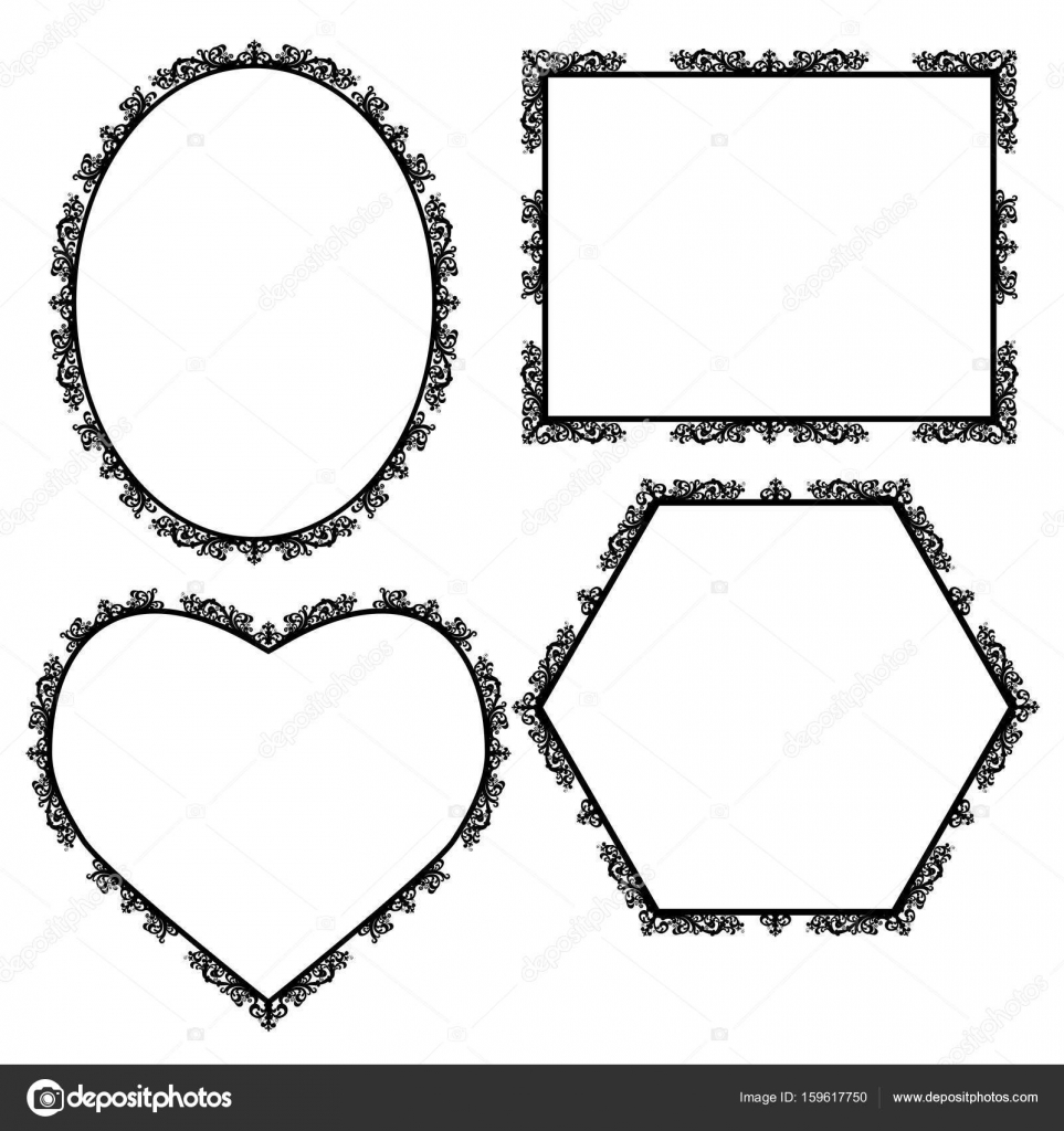 marco para cuadro tallado de silueta — Vector de stock © M.Svetlana ...