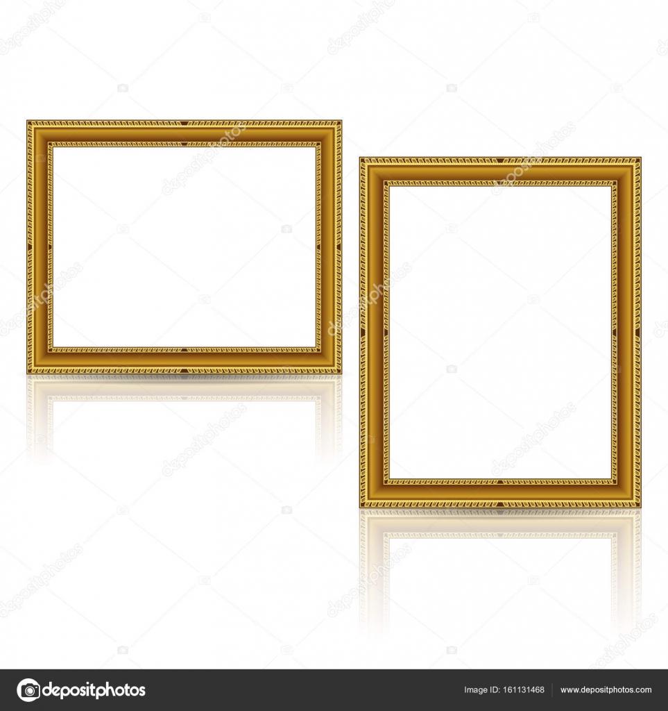 frames gold color with shadow — Stock Vector © M.Svetlana #161131468