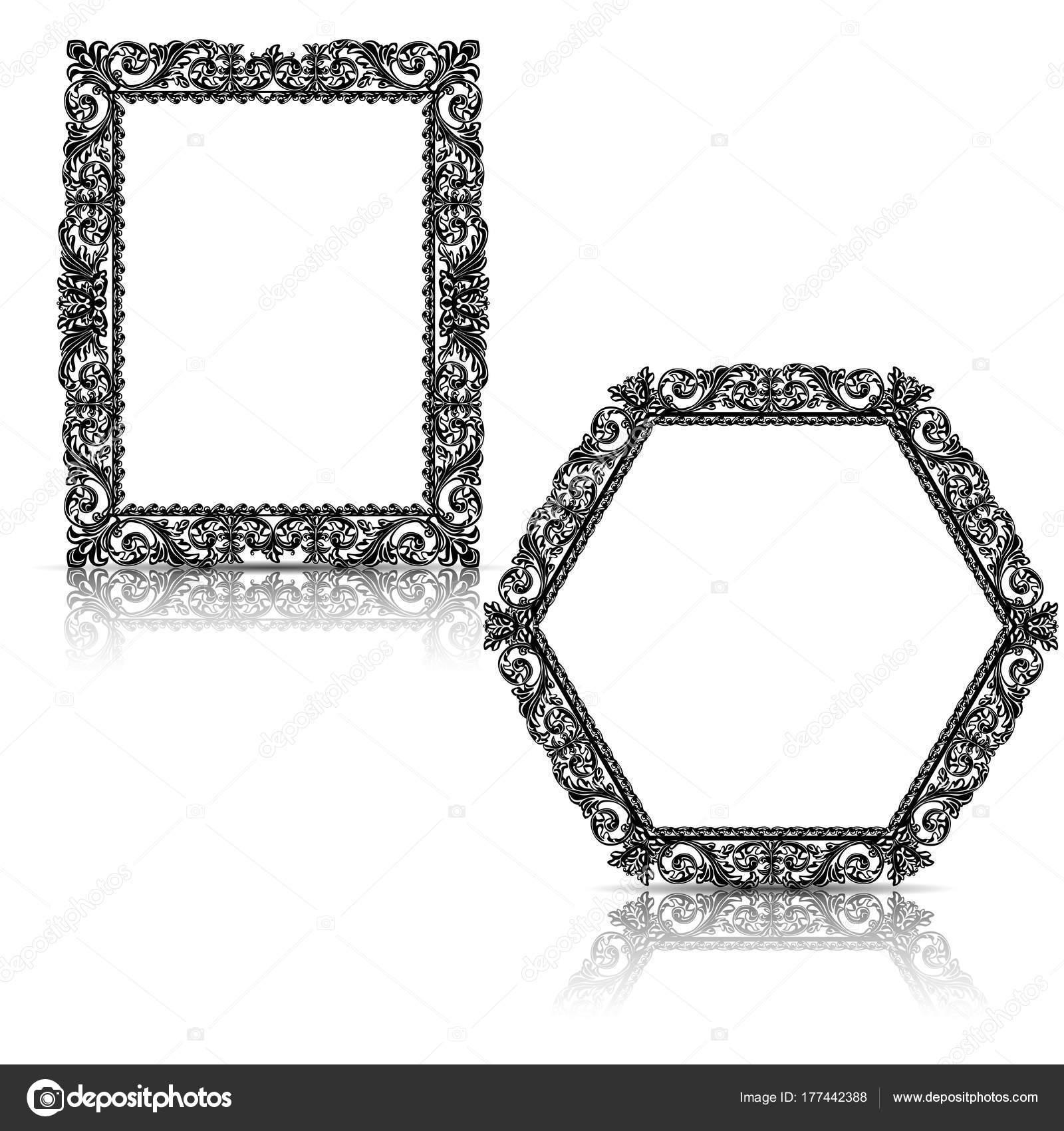 silueta tallada marco con sombra — Archivo Imágenes Vectoriales © M ...