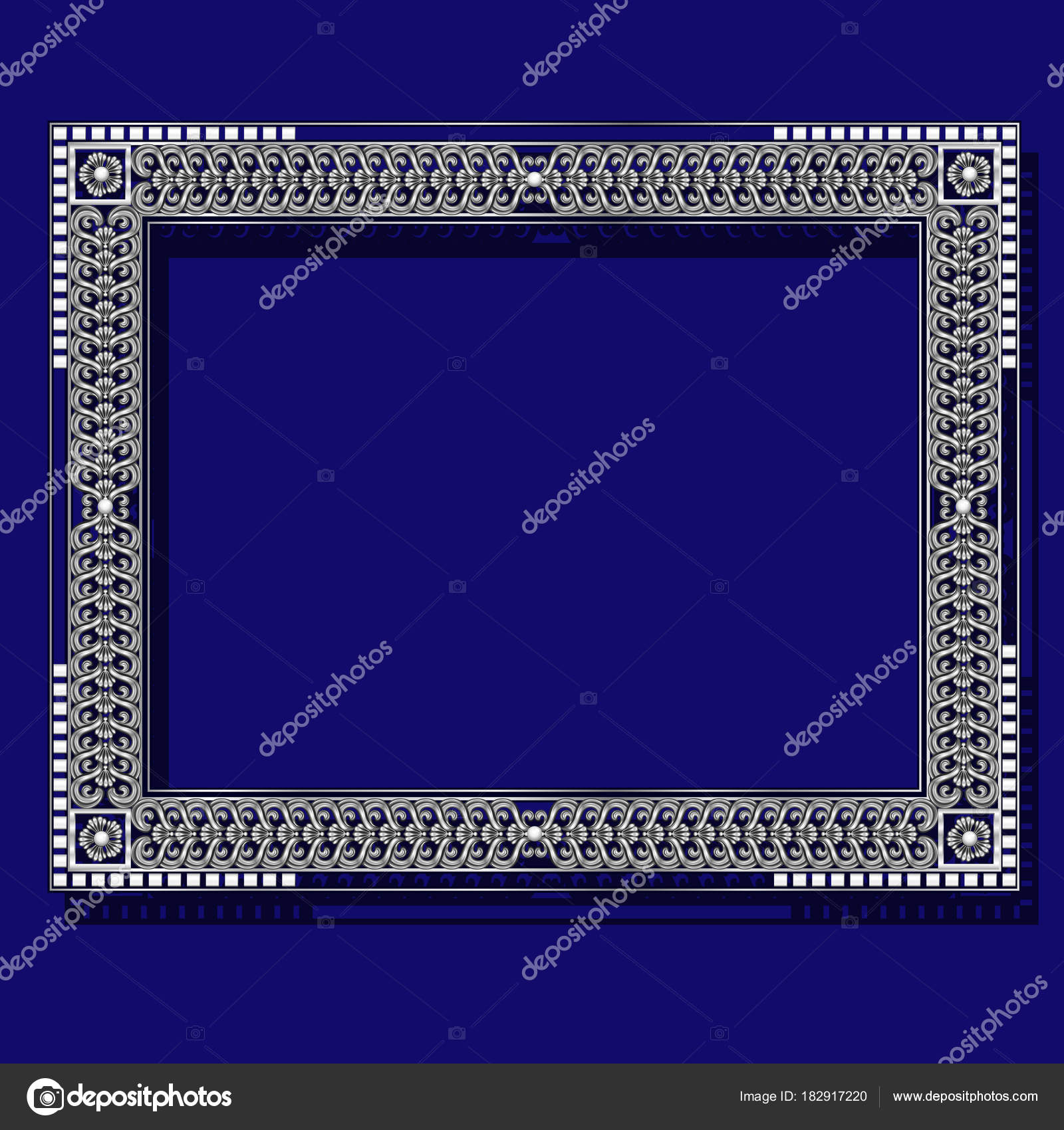 color del marco plata con sombra — Archivo Imágenes Vectoriales © M ...