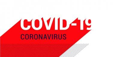 Covid-19 Coronavirus concept inscription typography design. World Health organization WHO introduced new official name for Coronavirus disease named COVID-19. Vector illustration