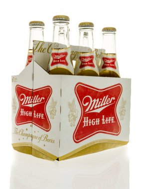 Six pack of Miller high life