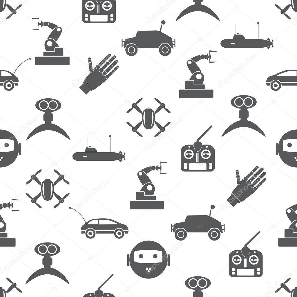 tecnología moderna Hi-Tech juguetes simples iconos de patrones sin ...