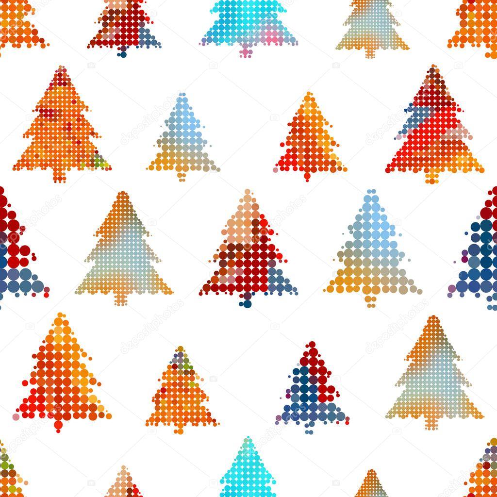 conjunto de colorido árbol de Navidad decoración pequeño círculo ...