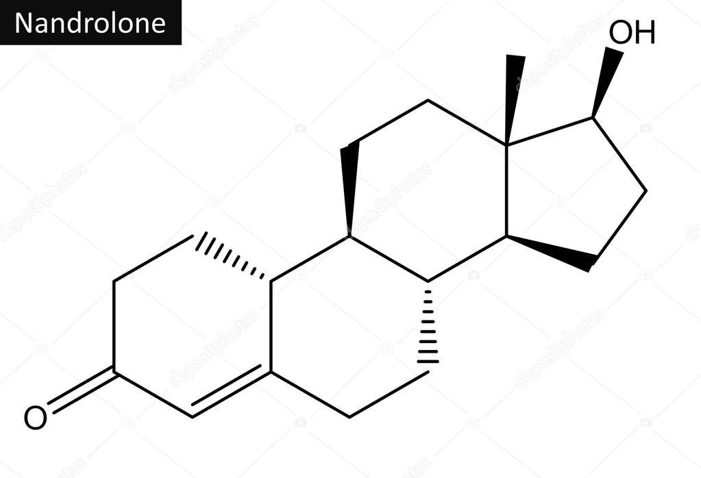 Estructura Molecular De Nandrolona Foto De Stock