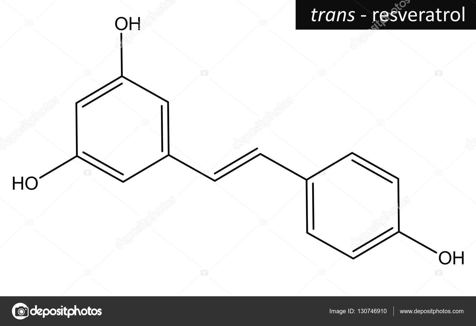 Molecular Structure Of Resveratrol Stock Photo C Raimund14