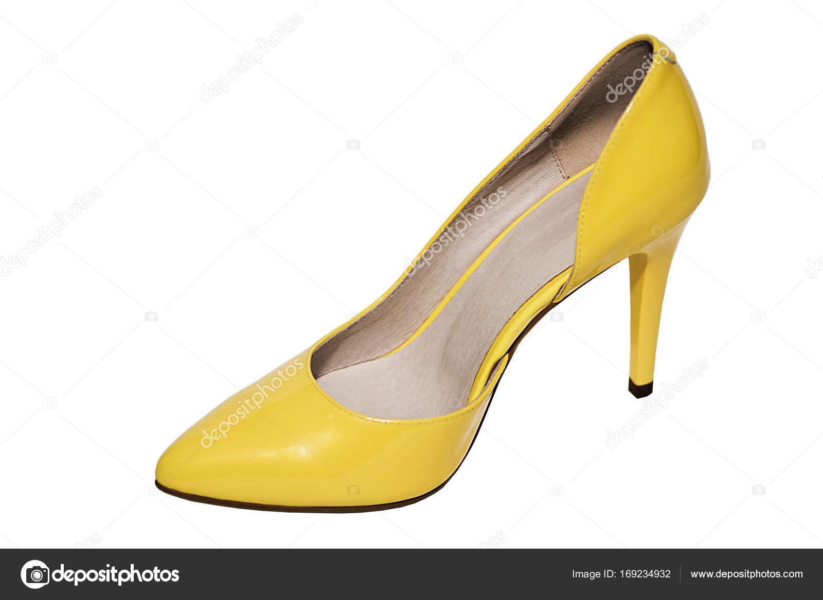 choisir authentique ordre les plus récents Donne scarpe gialle — Foto Stock © milenin #169234932