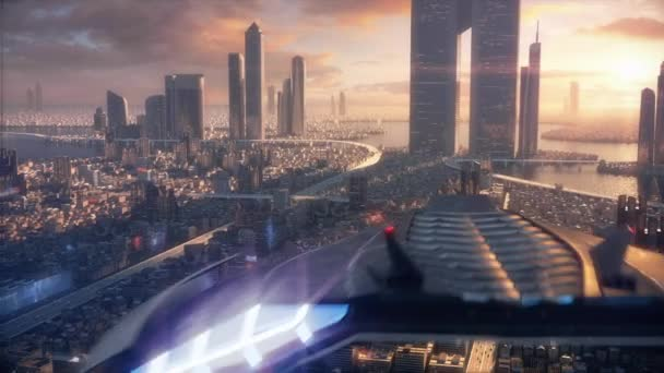 Sunset 3D City of the future