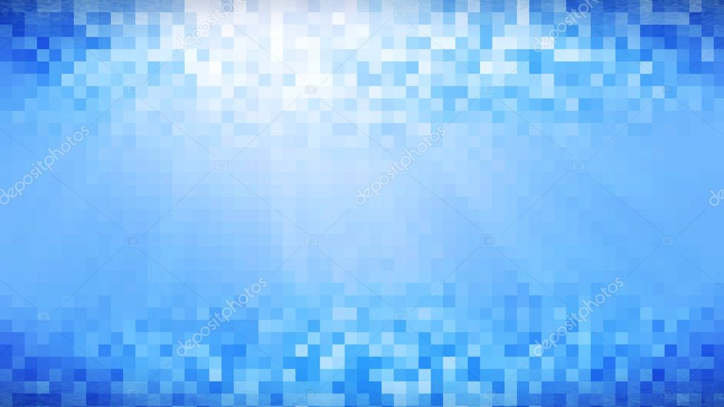 Water in white blue mosaic tile. Computer generated abstract bac