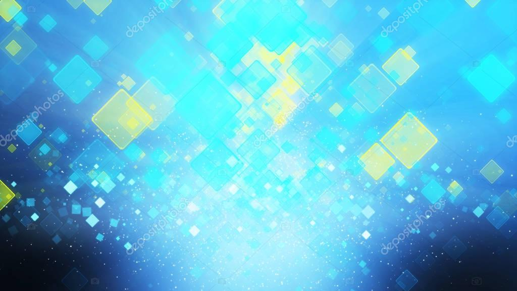 Cool Blue And Yellow Color Background With Squares Light Ray B Stock Photo C Koko Tewan 129436902