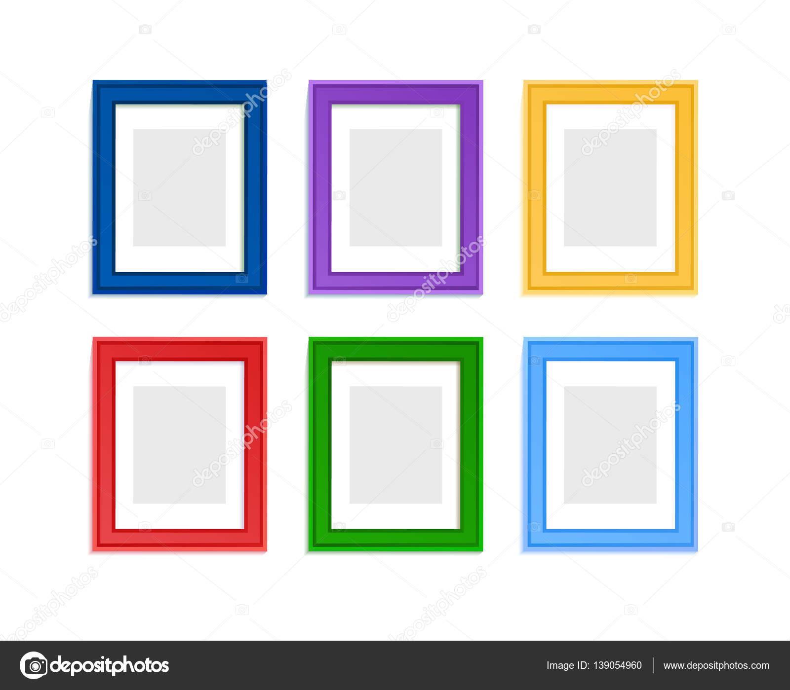 farbige Bilderrahmen — Stockvektor © Liubou #139054960