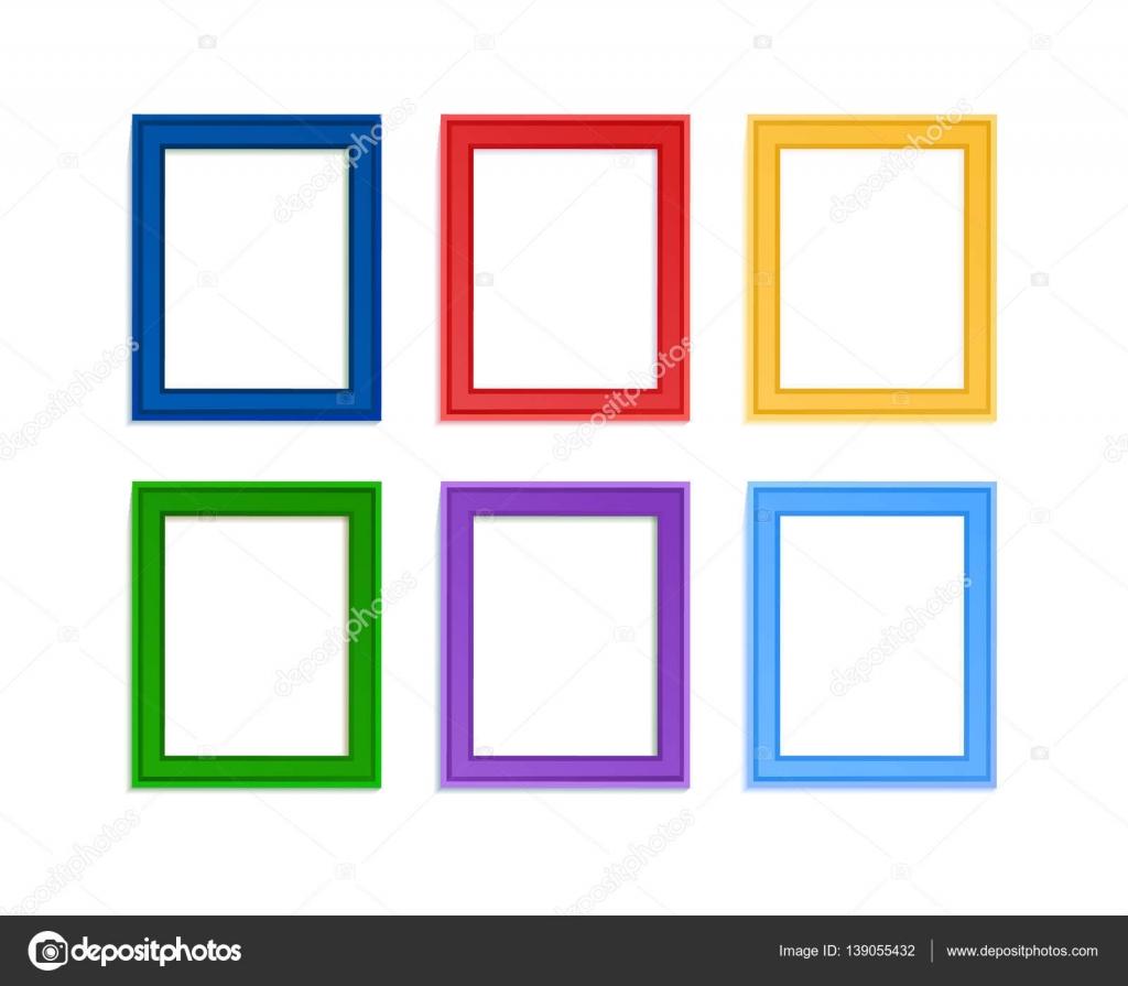Marcos de fotos coloreadas — Vector de stock © Liubou #139055432