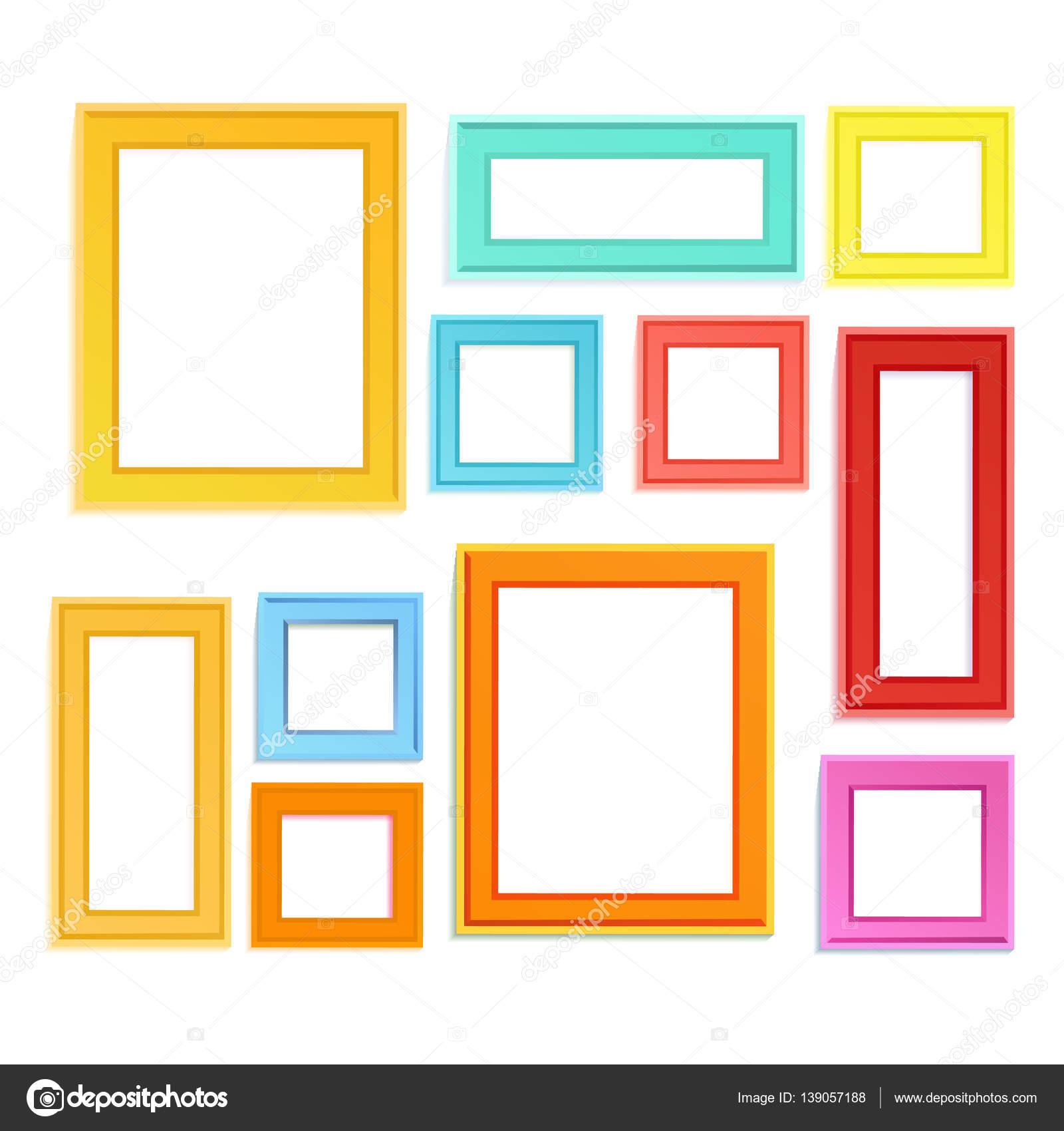 Marcos de fotos coloreadas — Archivo Imágenes Vectoriales © Liubou ...