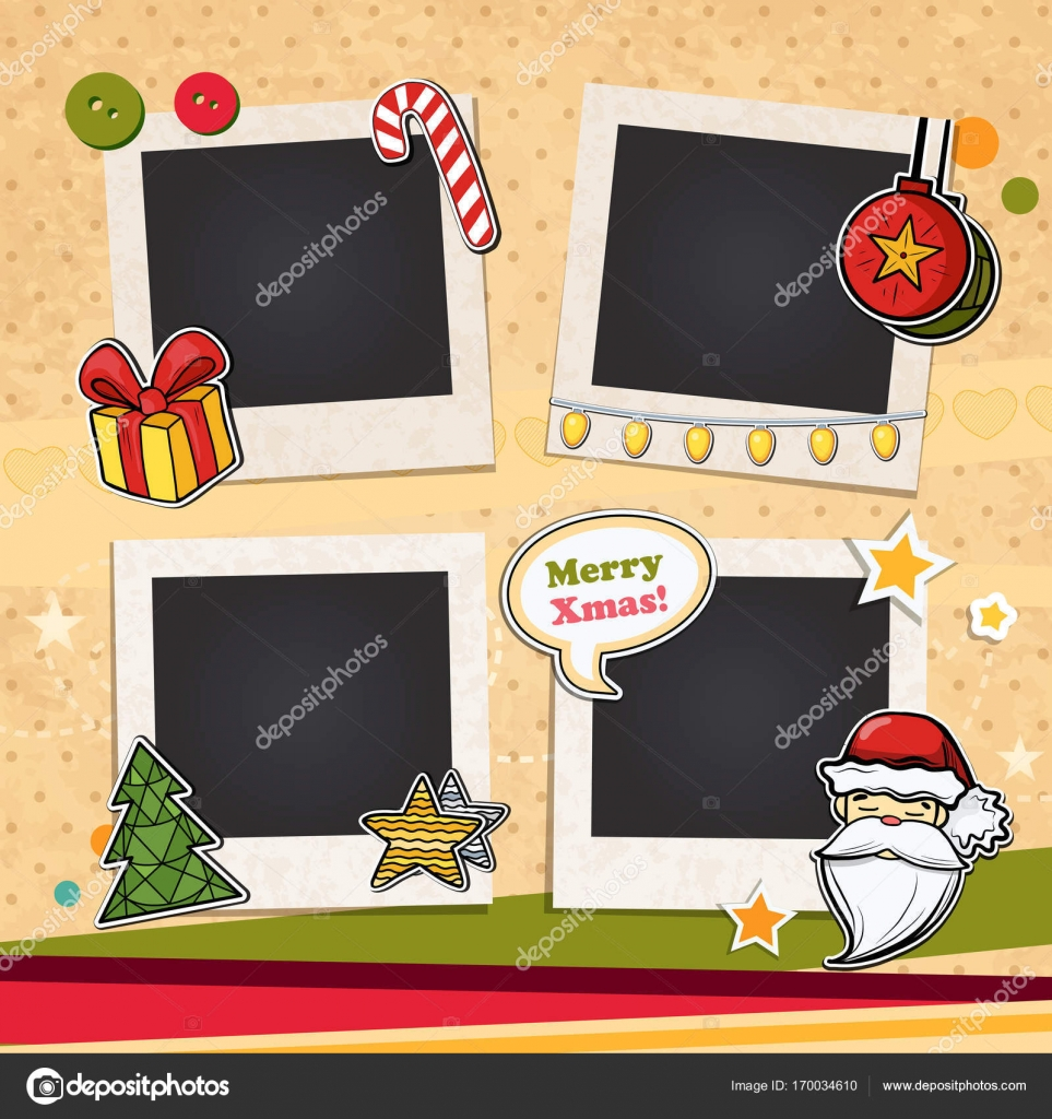 Delicieux Decorative Vector Template Frame. This Photo Frame You Can Use For Kids  Picture Or Memories. Scrapbook Design Concept. Insert Your Picture.
