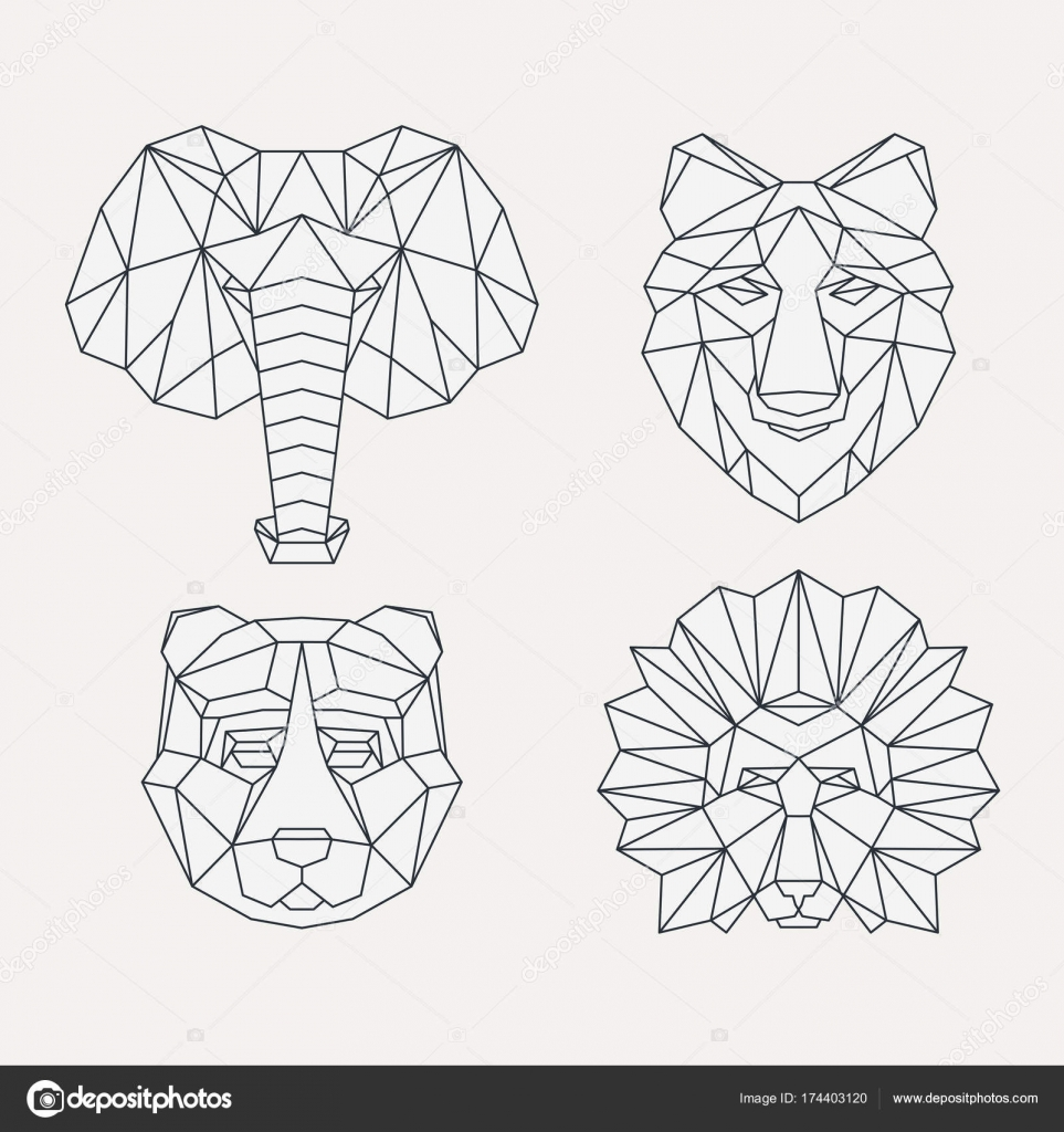 Animales Geométricos Poligonales