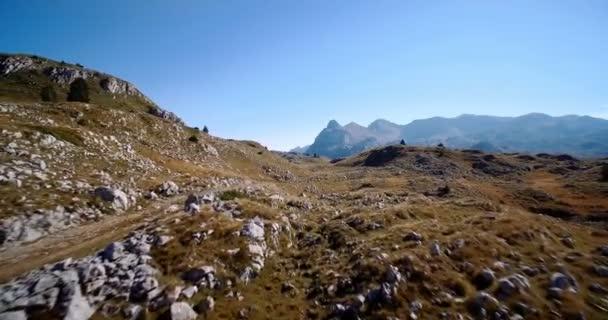 Antény, hornatá a kamenitá krajina, Černá Hora - tříděných a stabilizované verze.