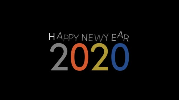 elegant und einfach Frohes Neues Jahr 2020 Intro, Motion Graphic Video 4k