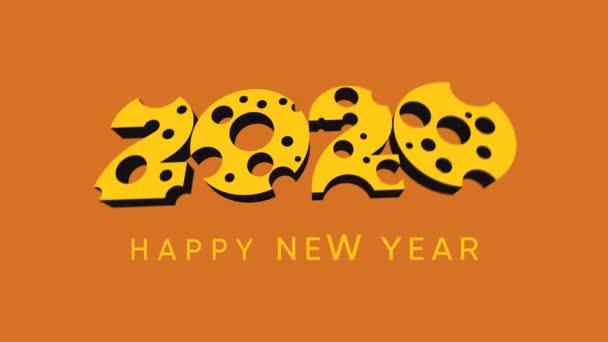 Šťastný čínský Nový rok 2020 Pozdrav s myší krysa ikona