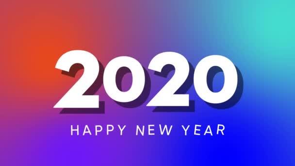 elegantní a jednoduchý šťastný nový rok 2020 intro, pohybové grafické video 4k