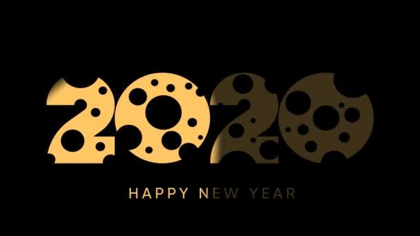 Šťastný čínský Nový rok 2020 s motivem sýra