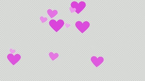 Text-Animation zum Valentinstag mit Herzform-Animation