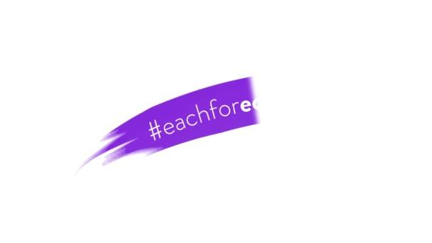 Pohybový grafický design k oslavě mezinárodního dne žen, 8. března