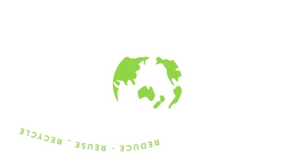 Design o nulovém odpadu životní styl v pohybu grafické animace, ekologický koncept