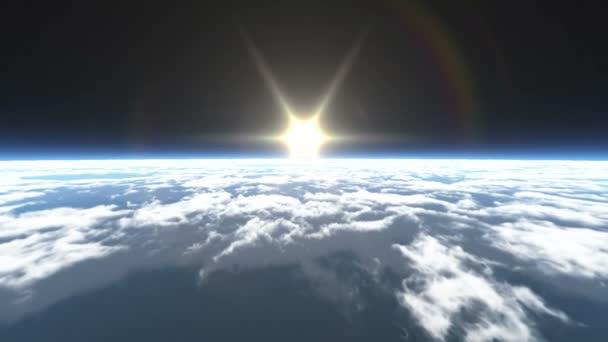 letět nad mraky nad prostor