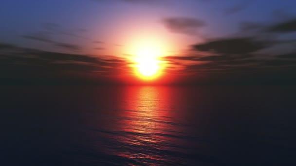 Fly slunce oceánu 4k