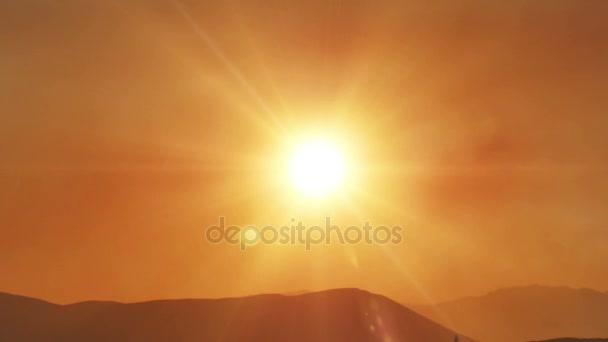 arany naplemente idő telik el