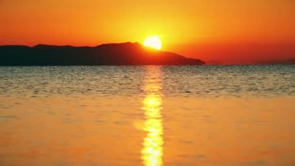východ slunce vlny moře 4k