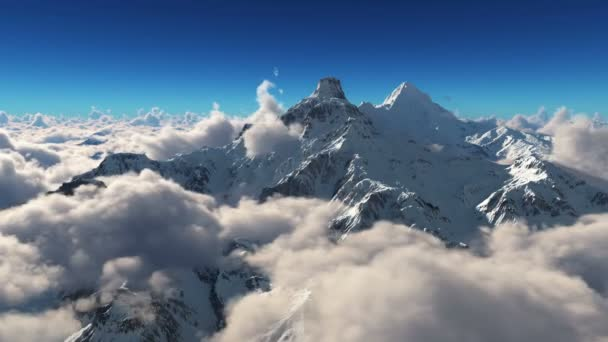 mountain snow clouds 4k