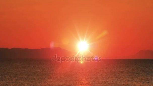 východ slunce vlny moře Zpomalený pohyb