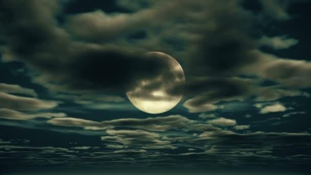 úplněk noční obloha 4k